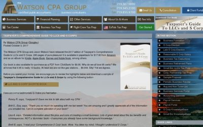 S Corp Tax Benefits & Advantages Book – Watson CPA Group