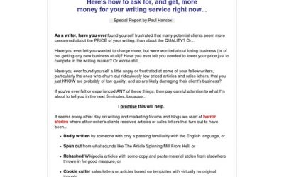 Write To More Money – Freelance Writing Report Pays 50